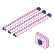 Fixed Spectrum Vertical System Lights