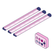Tuneable Spectrum Vertical System Lights